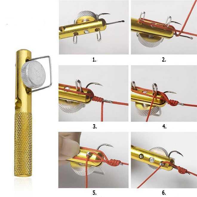 Устройство для завязывания узлов на крючке