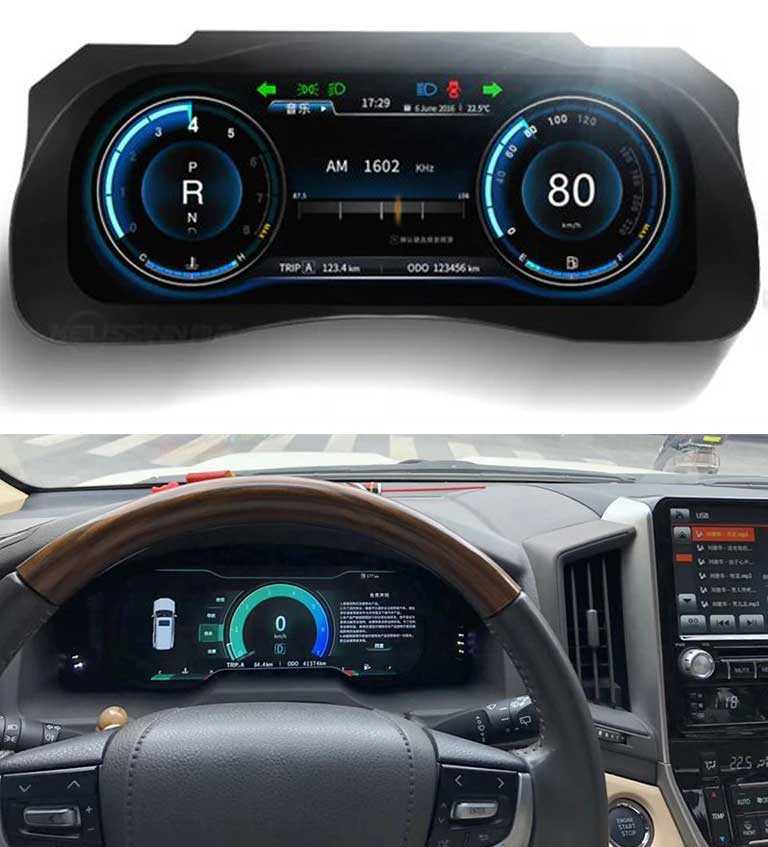 Мультимедийная панель приборов для Toyota Land Cruiser 200 J200 LC200 Roraima