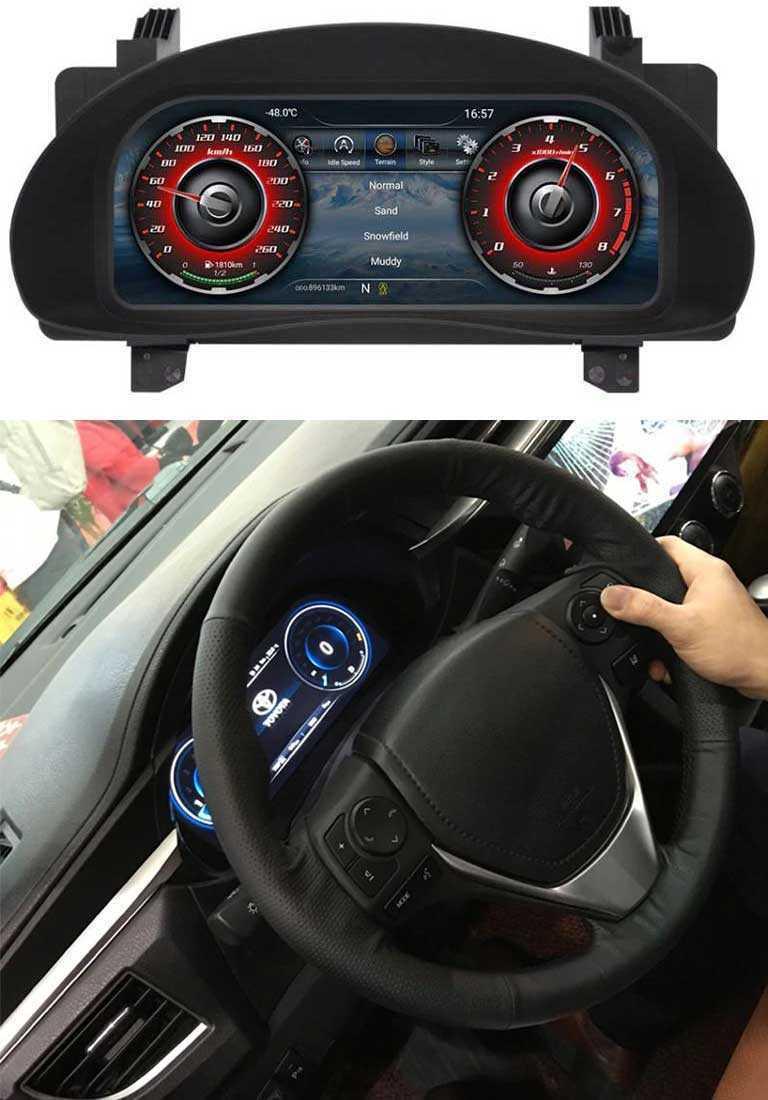 Мультимедийная панель приборов для Toyota Corolla E170 2013-2019