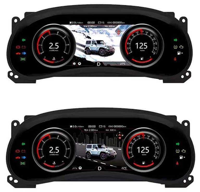 Мультимедийная панель приборов для Jeep Wrangler JK 2010-2017