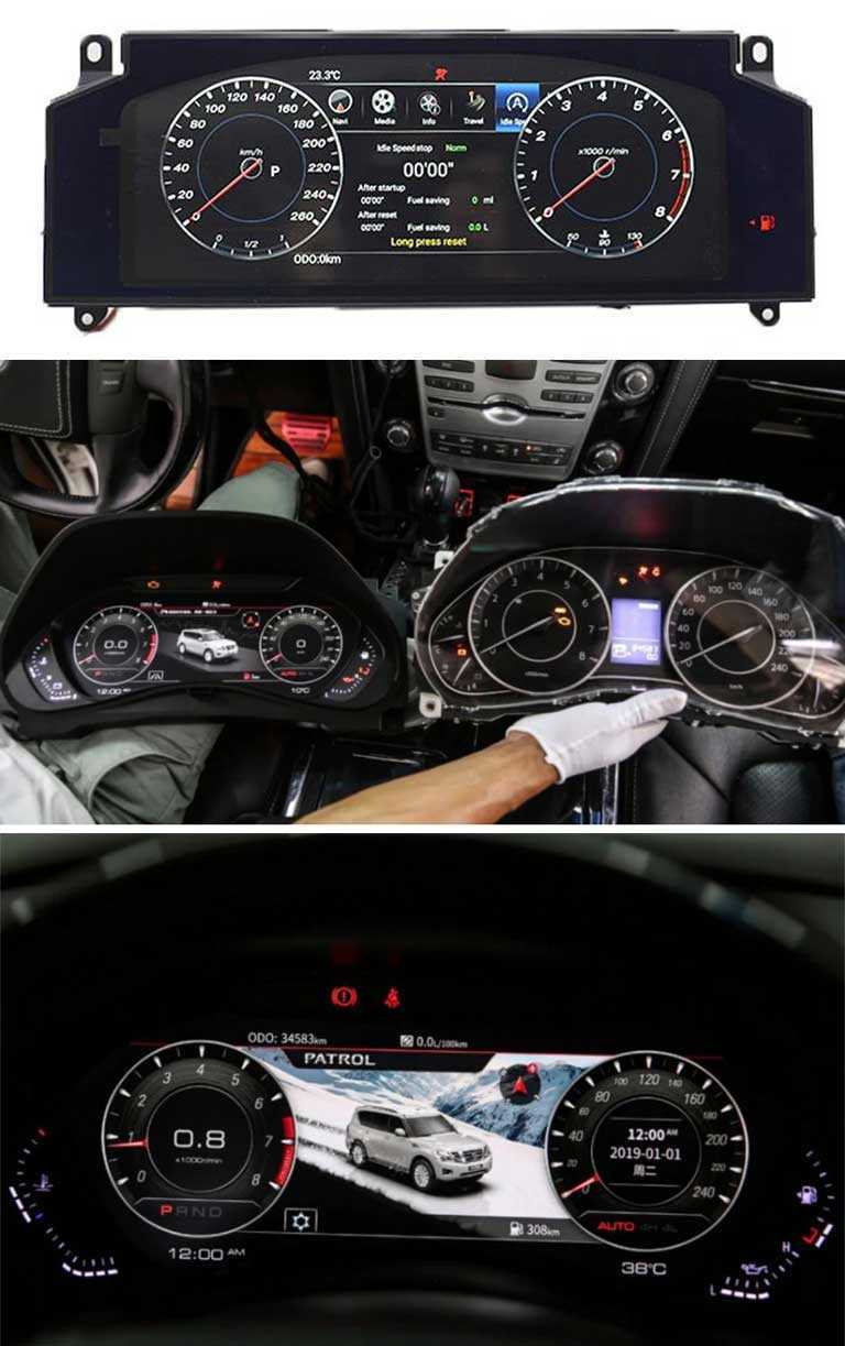 Мультимедийная панель приборов для Nissan Patrol Royale Y62 2010-2020