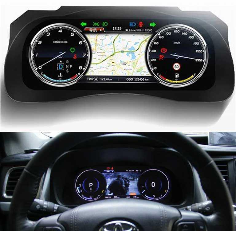 Мультимедийная Android панель приборов для Toyota Highlander Kluger XU50 2013-2019