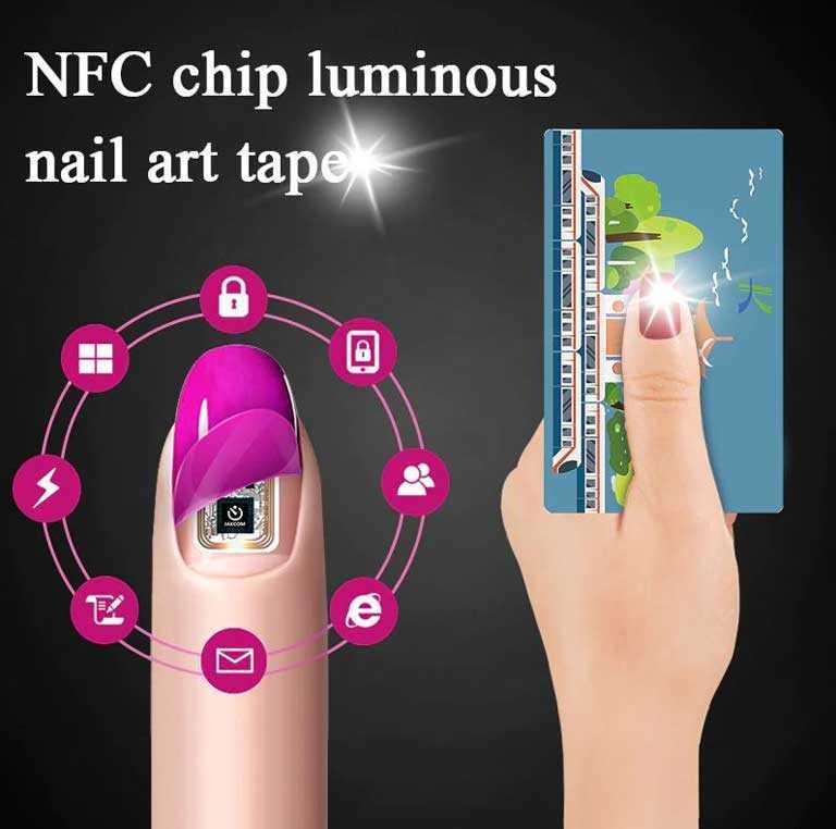 Набор NFC чипов для ногтей MEET ACROSS W1011